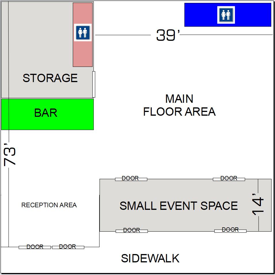 Gleaming Event Hall Floor